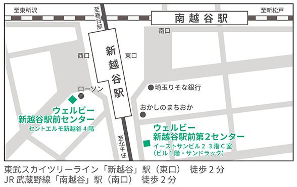 ウェルビー新越谷駅前第2センター地図