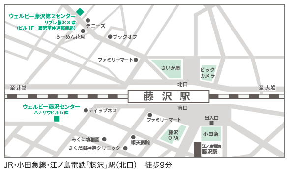 ウェルビー藤沢第2センター地図