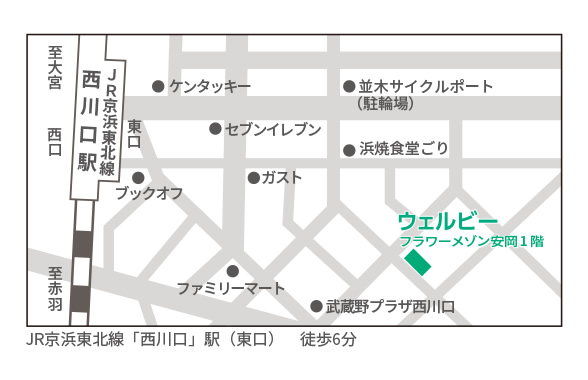ウェルビー西川口センター地図