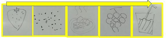 【本厚木第2】黄色チームのイラストしりとり