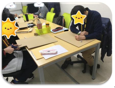 【新越谷第2】段ボールアート2