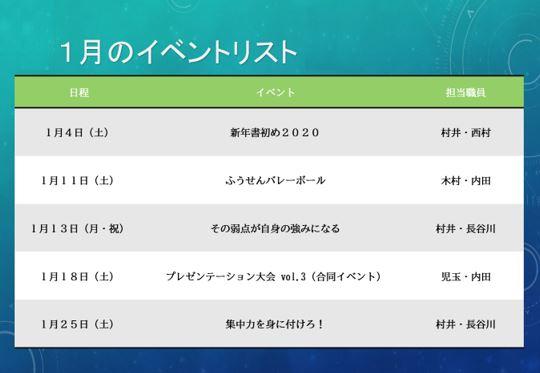 【高崎駅前第2】1月イベントのお知らせ
