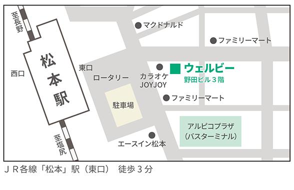 ウェルビー松本センター地図