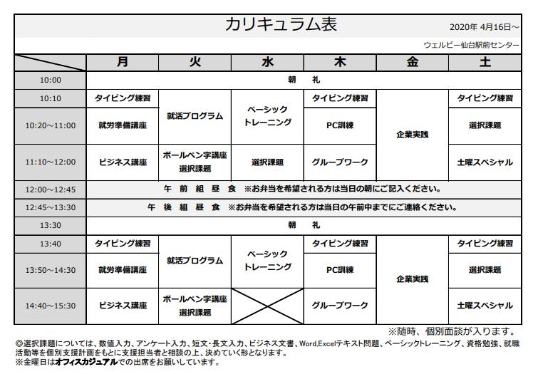 【仙台】コロナ対策カリキュラム