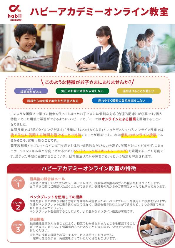 ハビーアカデミーオンライン教室_表
