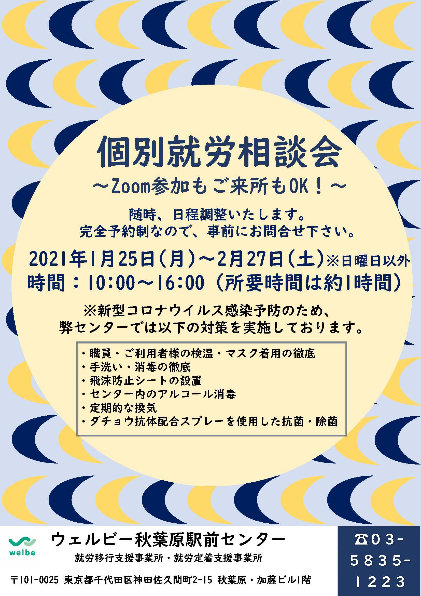 【秋葉原】個別就労相談会チラシ20210121