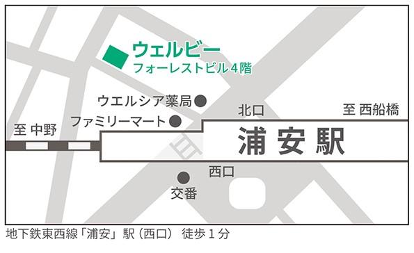 浦安駅前センター地図