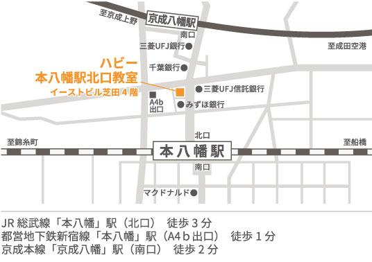 ハビー本八幡駅北口教室地図