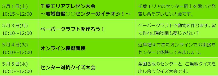 松戸第2センタープログラム表