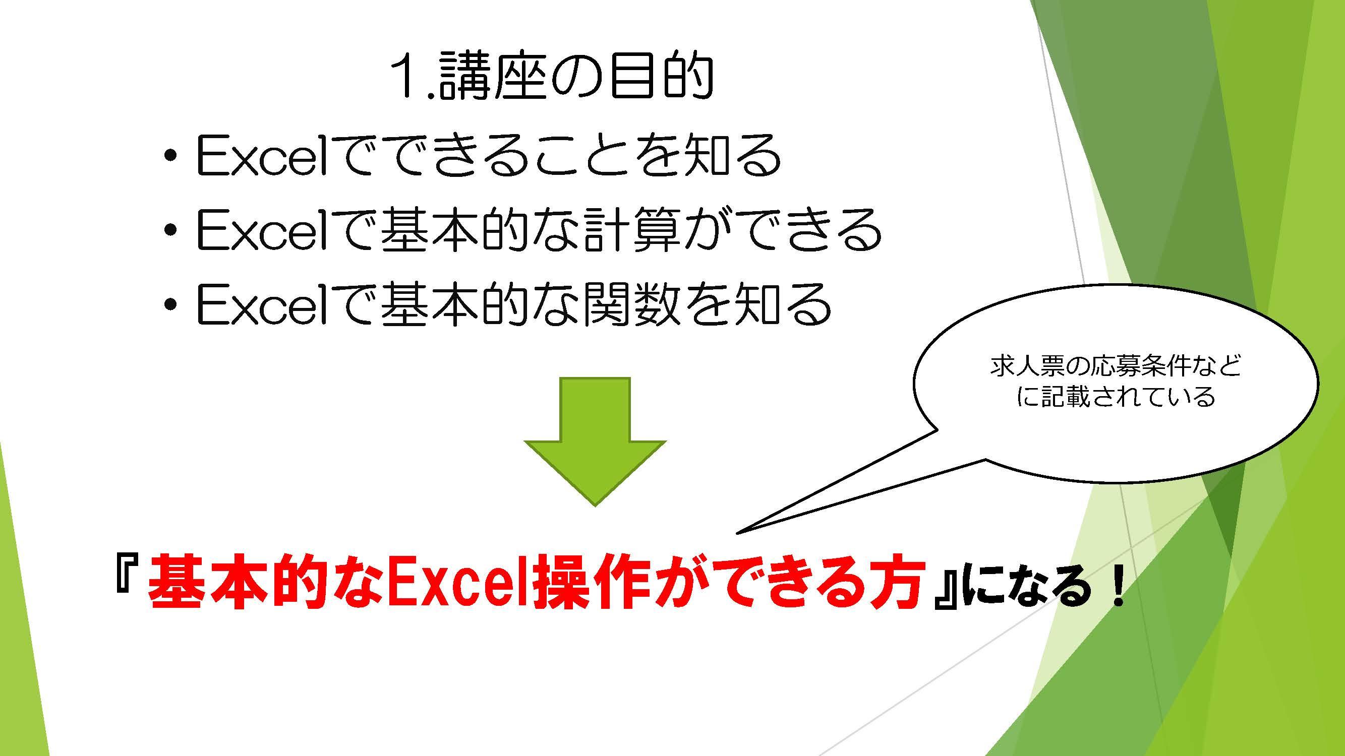 ウェルビー戸塚駅前センターExcel講座blog用