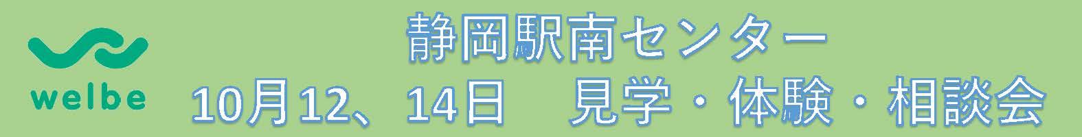 ウェルビー静岡駅南センター見学会帯